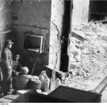 Monte Cassino, Fallschirmjäger in Gebäude