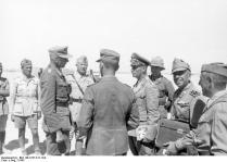 Nordafrika, Rommel mit Offizieren