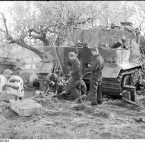 Italien, Ausschlachten eines Panzers