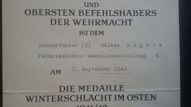 documento militar-concesion invierno frente este-alemania-WWII 2