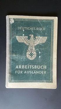 documentos militares-arbeitsbuch für Ausländer-alemania-WWII (2)